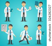 Male Doctor Character Set With...