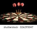 darts arrows in the target... | Shutterstock . vector #326295047