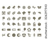 Nature Icons Set.