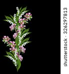 flowering plum and lily of the...   Shutterstock . vector #326297813