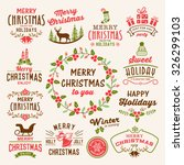 christmas decoration collection ... | Shutterstock .eps vector #326299103