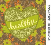bio organic healthy logo or...   Shutterstock .eps vector #326299223