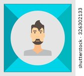 male character icon  portrait... | Shutterstock .eps vector #326302133