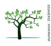 green tree. vector illustration. | Shutterstock .eps vector #326304533
