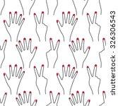 seamless hand pattern on white... | Shutterstock .eps vector #326306543