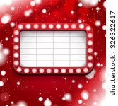 red christmas poster with light ... | Shutterstock .eps vector #326322617