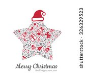 star and christmas icon... | Shutterstock .eps vector #326329523