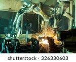team welding robots represent... | Shutterstock . vector #326330603