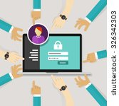 securing access from authorize... | Shutterstock .eps vector #326342303