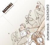 Illustration Of Baseball. Hand...