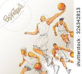 illustration of basketball.... | Shutterstock .eps vector #326342813