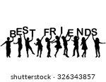 children silhouettes holding... | Shutterstock .eps vector #326343857