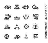 meeting icons vector | Shutterstock .eps vector #326345777
