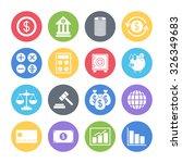 finance icons set | Shutterstock .eps vector #326349683