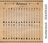 set of different arrows on the... | Shutterstock .eps vector #326350163