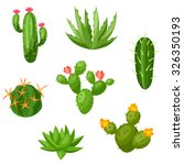 Collection Of Abstract Cactuse...