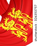 3d flag of normandy  france.... | Shutterstock . vector #326353757