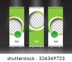 roll up banner stand design.... | Shutterstock .eps vector #326369723