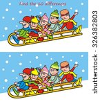 puzzle  find ten differences | Shutterstock .eps vector #326382803