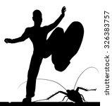 eps8 editable vector silhouette ... | Shutterstock .eps vector #326383757