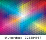 geometric color pattern... | Shutterstock .eps vector #326384957