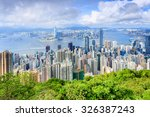 city skyscrapers seated at the... | Shutterstock . vector #326387243