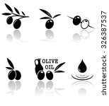 set of olive icons with mirror... | Shutterstock . vector #326387537