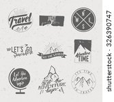 vintage typographic travel  ... | Shutterstock .eps vector #326390747