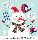 Vector Cheerful Christmas Card...