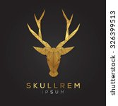 deer face emblem template for... | Shutterstock .eps vector #326399513
