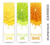three bright banner with... | Shutterstock . vector #326400833