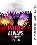 dance party poster background... | Shutterstock .eps vector #326416763