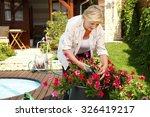 portrait of elderly woman... | Shutterstock . vector #326419217