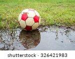 classic ball football on grass... | Shutterstock . vector #326421983