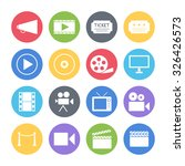 movie icons set | Shutterstock .eps vector #326426573