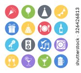 party icons set | Shutterstock .eps vector #326426813