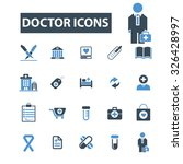 doctor icons | Shutterstock .eps vector #326428997