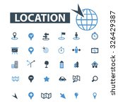 location icons | Shutterstock .eps vector #326429387