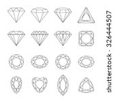 set of isolated gem stones... | Shutterstock .eps vector #326444507