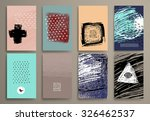 set of vintage  cards with... | Shutterstock .eps vector #326462537