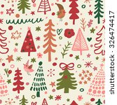 sweet christmas seamless... | Shutterstock .eps vector #326474417