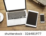 laptop  tablet and phone with... | Shutterstock . vector #326481977