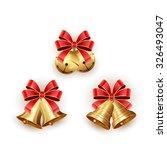 set of golden christmas bells... | Shutterstock .eps vector #326493047