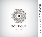 vector luxury vintage logo ... | Shutterstock .eps vector #326516837