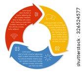 vector round infographic... | Shutterstock .eps vector #326524577