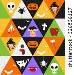 graphic for halloween night. | Shutterstock .eps vector #326536127