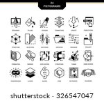 creative contemporary icon set...