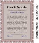 certificate of achievement.... | Shutterstock .eps vector #326554607