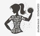 Fitness Typographic Poster. Yo...