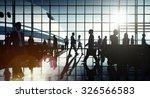 international airport airplane... | Shutterstock . vector #326566583